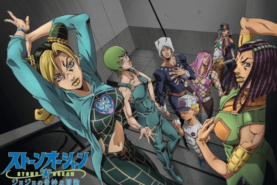 jojos bizzare adventure stone ocean llegará a netflix en diciembre de 2021 anime póster