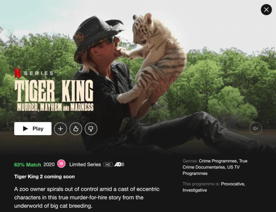 tiger king 2 listed netflix