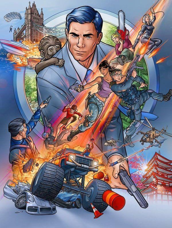 Archer Poster Netflix
