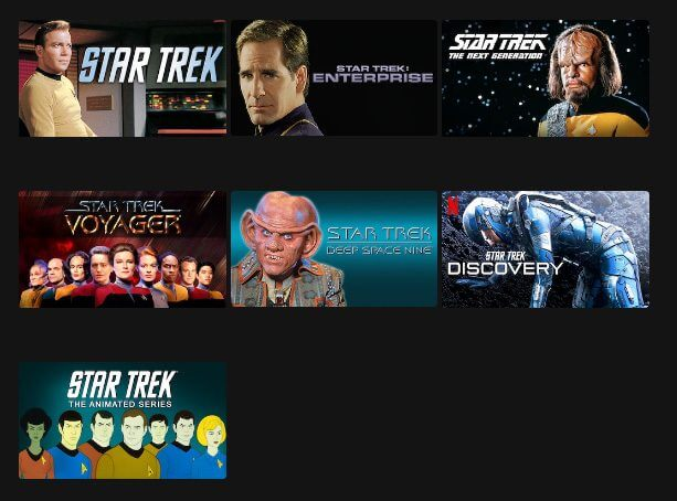 Internationally, the title of Star Trek remains on Netflix